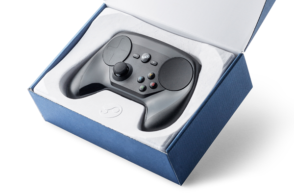Valve Steam controller high-end bio-based packaging no plastic Fairphone PaperFoam sustainable packaging