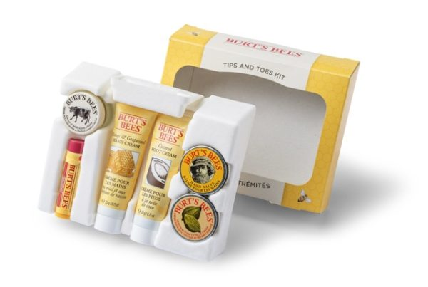 burts bees cosmetics high-end bio-based packaging no plastic PaperFoam sustainable packaging